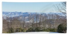Beach Towel featuring the photograph Easterly Winter View by D K Wall