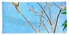 Eastern Bluebird Couple Beach Sheet