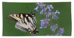 Eastern Tiger Swallowtail Profile Beach Sheet by Patti Deters