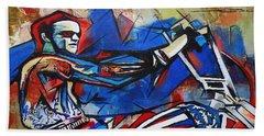 Easy Rider Captain America Beach Towel