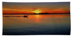 Easy Sunday Sunset Beach Towel