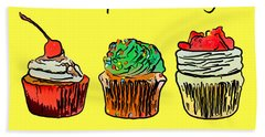 Beach Towel featuring the photograph Eat A Cupcake Today . And Smile by Wingsdomain Art and Photography