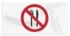 Eat Less T-shirt Beach Sheet