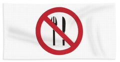 Eat Less T-shirt Beach Sheet by Herb Strobino