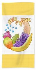 Eat More Fruit Beach Towel