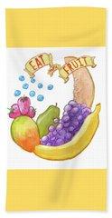 Eat More Fruit Beach Sheet by Whitney Morton