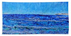 Ebbing Tide Beach Sheet by Regina Valluzzi