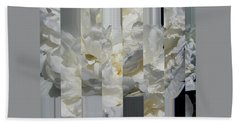 Ebony And Ivory Peony - Floral Abstract Beach Towel by Brooks Garten Hauschild