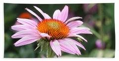 Beach Sheet featuring the photograph Echinacea With Visitor by Ellen Tully