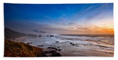 Ecola State Park At Sunset Beach Towel
