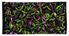 Edamame Patterns Beach Towel