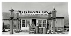 Edcouch Texas Gas Station 1939 Beach Towel by Daniel Hagerman