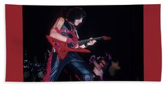 Eddie Ojeda Of Twisted Sister Beach Towel