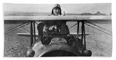 Eddie Rickenbacker - World War One - 1918 Beach Towel