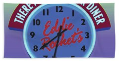 Eddie Rocket Clock Beach Towel