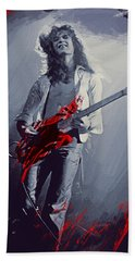 Eddie Van Halen Beach Towel by Afterdarkness