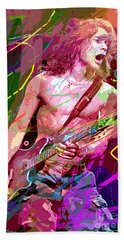 Eddie Van Halen Jump Beach Towel