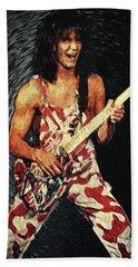 Eddie Van Halen Beach Towel