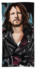Eddie Vedder Beach Towel by Melanie D