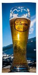 Edelweiss Beer In Kirchberg Austria Beach Sheet