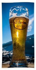 Edelweiss Beer In Kirchberg Austria Beach Towel