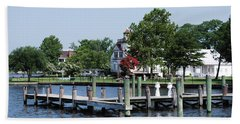 Edenton Waterfront Beach Sheet by Gordon Mooneyhan