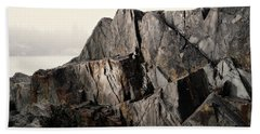 Beach Towel featuring the photograph Edge Of Pukaskwa by Doug Gibbons