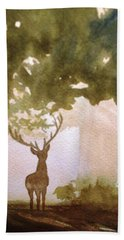 Edge Of The Forrest Beach Towel by Marilyn Jacobson