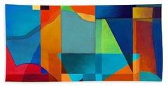 Beach Towel featuring the digital art Edges by Elena Nosyreva