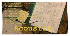 Edgeworth Acoustic Solo Tape H Beach Towel