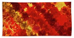 Edgy Flowers Through Glass Beach Towel