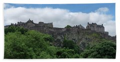 Beach Sheet featuring the photograph Edinburgh Castle In Scotland by Jeremy Lavender Photography