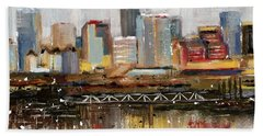 Edmonton Skyline Abstract1 Beach Towel