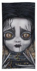 Edward Scissorhands Beach Towel by Abril Andrade Griffith