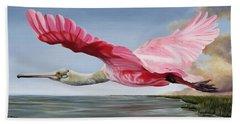 Edwin's Roseate Spoonbill Beach Towel