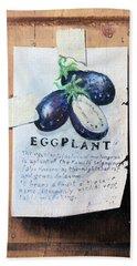 Eggplant Beach Towel