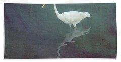 Egret Dreams Beach Towel