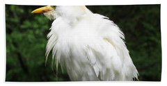 Egret Feeling Ruffled Beach Towel