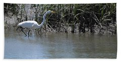 Egret 2 Beach Towel
