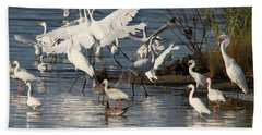 Egret Mania 2 Beach Towel