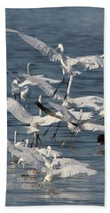 Egret Mania 3 Beach Towel