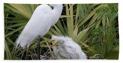 Egret Nest Beach Towel
