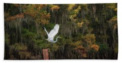 Egret Sanctuary Beach Towel