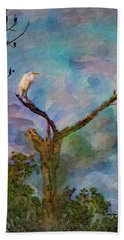 Egret Tree Beach Towel