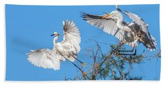 Egrets 4460-090314-2cr Gwr Beach Towel