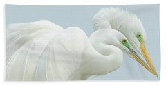 Egrets In Love 2 Beach Towel