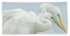 Egrets In Love 2 Beach Sheet