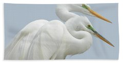Egrets In Love Beach Towel