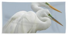 Egrets In Love Beach Sheet