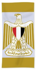 Beach Sheet featuring the drawing Egypt Coat Of Arms by Movie Poster Prints
